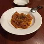 96618739 - フィレンツェ風のトリッパのトマト煮込み