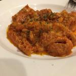 96618741 - フィレンツェ風のトリッパのトマト煮込み