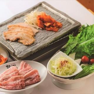 【大人気】韓国風焼肉サムギョッサルをお召し上がりください!