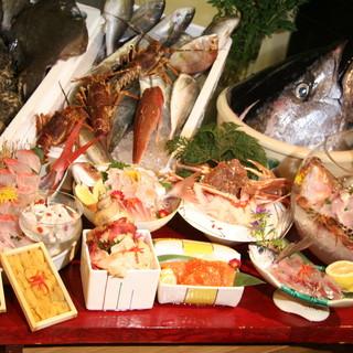 旬の魚介類が盛りだくさん!