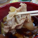 元祖田舎っぺうどん - 肉ねぎ汁・大盛(756円)+ほうれん草(108円)+生姜(54円)