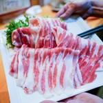 小料理 石蕗 - ☆しゃぶしゃぶの黒豚肉