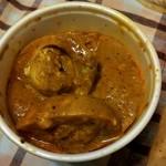 インドカレーmini - 多分、キーマカレー...ゆで卵入ってるよぉ…
