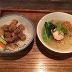 96629553 - 魯肉飯小と汁ビーフン小のセット