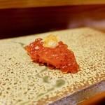 96635001 - [2018/11]寿司⑪ のむらのTKG いくらの握り