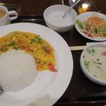 ジャスミン タイ - 蟹のカレー炒めセット