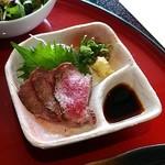 万葉 太郎坊亭 - 牛肉タタキ