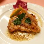 ピッツェリア・サバティーニ - 若鶏のグリル粒マスタードソース