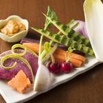 雑魚や 基 - 生野菜スティック