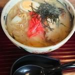 千寿亭 - 田舎にゅうめん。味噌味。