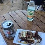 魚華 - イカの丸焼き ビールと江ノ島サイダー