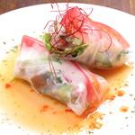 Katsu - 自家製煮豚の生春巻き