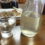 なかとら食堂 - 日本酒(かのいずみ純米酒)