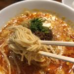 96649512 - 麺はストレート、細麺