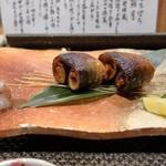 ぼちぼち - 秋刀魚と松茸 わた正油焼き
