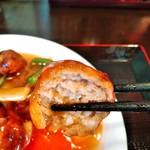 竹園 - 肉団子断面