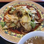 中華料理 王道楼 - 赤い油が美味しい回鍋肉