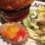 96656464 - ハンバーガー+ベジタブルセット&国産野菜サラダ