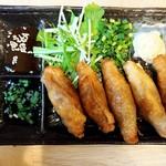 福島壱麺 - とり皮ギョーザ