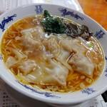 96659424 - 福ワンタン麺(正油味)・エビ茹でワンタン増し