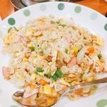 鶯酒場 - 料理写真:ハムピラフ  サラダ付きで550円