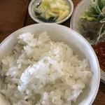 三月九日青春食堂 - ご飯と漬物