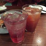 池袋 Cafe&Dining ペコリ - 巨峰サワーとカシスグレフル