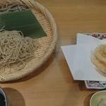 蕎麦本陣 大はし - 料理写真:二点盛り 白えび天ぷら