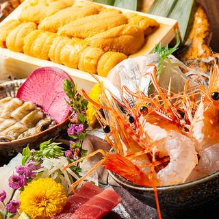"""滋味深い料理の数々。鮮度にこだわった""""獲れたて活魚""""に舌鼓。"""