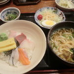 旬魚旬菜 びんびや - 海鮮丼ランチ
