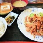 山盛食堂 - 朝鮮焼定食500円!