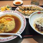 餃子の王将 - 料理写真:ギョウ天セット