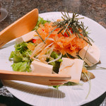96685229 - 豆腐とクラゲのサラダ