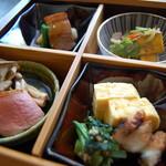 蕎麦 ふくあかり - お昼の松花堂弁当