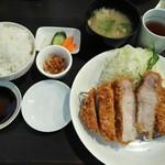 96691530 - 「リブロースかつ定食」1500円+税
