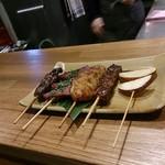 京の焼肉処 弘  - 焼肉串おまかせ5本盛り