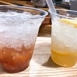 カフェ ブリッコ - ドリンク写真:いちじくと梅スカッシュ&レモネード