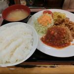 ランチハウス ミトヤ - 特製たれ焼肉&メンチかつ850円