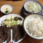 味の牛たん 喜助 - 牛タン炭火焼きミックス定食@2,160円
