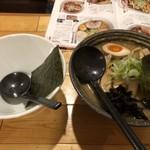 麺や 政志 - 料理写真:味噌ラーメンと小分けの器