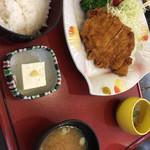 湯茶寮マルト - 魚が苦手な人用、トンカツ