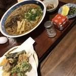 山の飯 沙羅 - 天ぷら蕎麦
