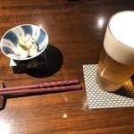 松江の台所 こ根っこや - 生ビールとお通し