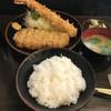 とんかつ 力亭 - 料理写真:ロースと海老の盛り合わせ