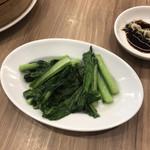 96724429 - 青菜のガーリック炒め