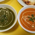 タルカリーハウス - 料理写真:ほうれんそうチキン&マトンカレー。
