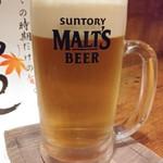狼林 - ドリンク写真:ワンコインちょい呑みセットから生ビールはモルツ