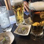 鎌倉おでん波平 - 先ずはビールで乾杯!