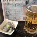 鎌倉おでん波平 - 生しらすと生ビールから