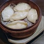96734910 - 豆腐餃子を蒸籠蒸しで